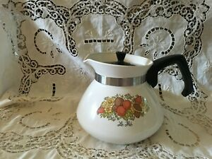Vtg Corning Ware Spice of Life  Le The' 6 Cup Coffee Tea Pot P-104
