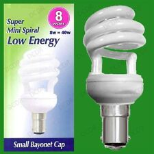x 25 8W (=40W) basse consommation puissance CFL mini spirale AMPOULE SBC B15