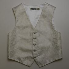 C415  BHS WEDDING COLLECTION BOYS IVORY WAISTCOAT AGE  4 YEARS