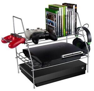 Video Game System Storage Rack Game Depot Shelf XBOX PS4 Organizer