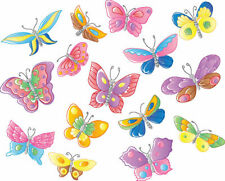 24 X PASTEL MIX BUTTERFLY EDIBLE CUPCAKE TOPPERS CAKE RICE PAPER WAFER M11