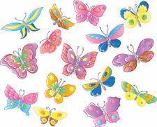 20 Precut Edible Fleur Rose Gaufre papier papillons Gâteau//Cupcake Toppers