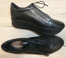 NEU !! Vagabond ! Damen Leder- Sneaker Schnürschuh Gr. 38 UK 5 / schwarz / CASEY