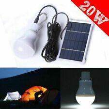 20W Solaire Power Panel LED Ampoule Lumière Camping Tente En Plein Air