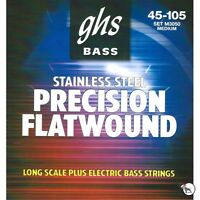 GHS Strings M3050 Precision Flatwound Long Scale Medium Plus Bass Strings 45-105