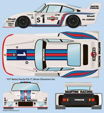 1977 Martini Porsche 935-77 Silverstone 1/24 scale water transfer decals AMT