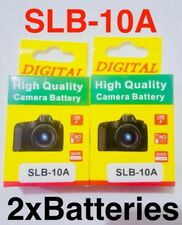 SLB-10A 1200mAh Rechargeable Battery x2 SAMSUNG PL60 P800 WB550 M310W WB1100 UK