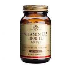 Solgar Vitamin D3 1000 IU (25ug) Softgels 100