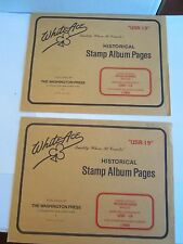 Nos - White Ace Stamp Album Pages (2) Usr-19 & 20