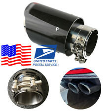 Carbon Fiber Appearance 63MM Car Modified Exhaust Pipe Smoothly Polishing Glossy