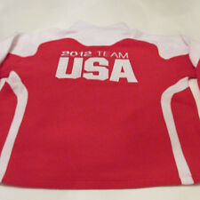 Team Apparel Team USA 2012 London Olympics Fleece Jacket sz Large Pull Over Red