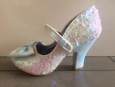 Irregular Choice ''Fancy This'' (U) Irridescent Sequin High Heel Shoes