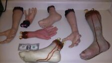 BODY PARTS ARMS, LEGS, HANDS, FEET LOT. HALLOWEEN PROPS. Decapitated. LOT of 7.