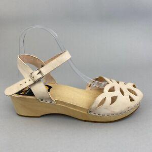 Toffel Hasbeens Swedish Clog Leather Slingback Summer Holiday Sandals 39 UK6