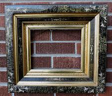 Victorian EASTLAKE Incised Sponged BLACK GILT GOLD Deep Well Frame 8 x 10 1870s