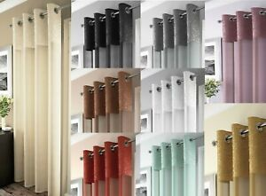LUXURY MADEIRA VOILE CURTAIN PANEL(One),VOILE NET CURTAINS,EYELET TOP, FREE P&P