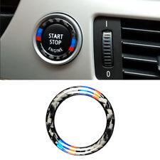 Fibre carbone M moteur voiture démarrage bouton Stop Stickers pour BMW E90 E92