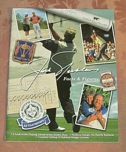 JACK NICKLAUS - Facts & Figures - Media Guide Type Magazine - 2002 - NEAR MINT