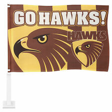 Licensed AFL Hawthorn Hawks CAR Flag includes Pole Fathers Day Gift