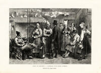 Antique Print-SWEDISH INTERIOR-COSTUME-SWEDEN-Reclus-Lix-1880