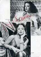 Hedy Lamarr JSA Coa Signed 8x10 Page Photo Autograph