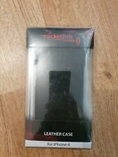 Rocketfish Portfolio leather case for iPhone 4 / 4s- black