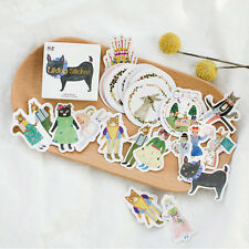 45pcs/lot DIY Cute Kawaii Cat Rabbit Fox Sticker Lovely Animal Diary Stickers