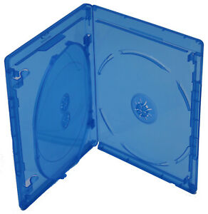 New Bluray Replacement 12.5mm 3-Disc Blu-Ray Single With Logo Premium Cases