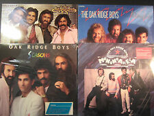 The Oakridge Boys, 4 sealed LP lot, Monongahela, Seasons, Together, Heartbeat