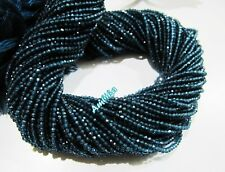 Natural London Blue Topaz Beads , Rondelle Faceted 2mm Beads,Strand of 13 inch