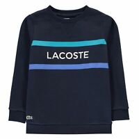 Kids Boys Lacoste Sweatshirt Crew Sweater Long Sleeve New