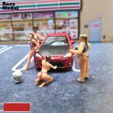 1/64 Lovely Race Medal Figures Wash Car Sister Fat Sister Model For Matchbox New