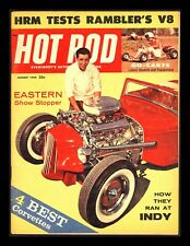"Vintage 1959/Aug ""Hot Rod Magazine"" 4 Best Corvettes-Go Carts-Ramblers V-8"