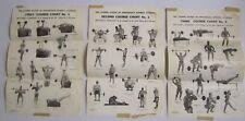 Lot of Vtg 3 Joe Weider System Progressive Barbell Exercises Posters Mr America