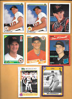 1990 Upper Deck #54 Ben McDONALD Error Rookie & 9 Ben McDONALD Orioles RC. Cards