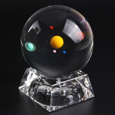 Crystal Solar System Ball 3D Glass Galaxy Miniature Universe Astronomy Planets