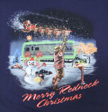 Redneck Christmas Party T Shirt sz Large Mens Snowman Santa Clause Dog Hunting