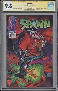 Spawn #1 CGC SS 9.8 Todd McFarlane signed CLASSIC Image cover MOVIE COMING SOON