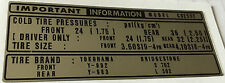 HONDA CB250T TYRE TIRE INFORMATION CHAIN CAUTION WARNING DECAL