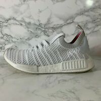 ADIDAS NMD R1 PRIMEKNIT CQ2390 WHITE/GREY BOOST SNEAKERS SHOES MEN SIZE 9.5
