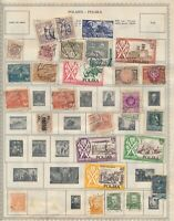 POLAND: 250+ STAMPS MOUNTED ON VINTAGE MINKUS ALBUM PAGES WITH STOCK SHEETS