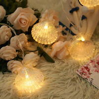 3M 20 LEDs Sea Shells Fairy String Lights Warm White Decor Indoor Party Xmas