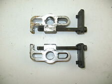 1983 SUZUKI GS550E REAR WHEEL ADJUSTERS - CHAIN ADJUSTERS - GOOD BOLTS + THREADS