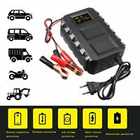 Car 12V Battery Lead Acid Charger Motorcycle 20A Intelligent LCD Smart Speed