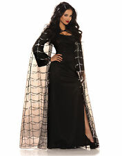 Hooded Spider Web Cape Adult Womens Halloween Costume Accessories - One Size