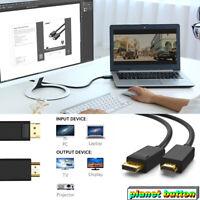 1.8M 4K DP DisplayPort to HDMI Cable Converter Adapter for PC Laptop Desktop AV