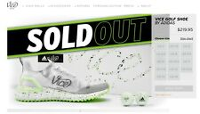 Vice Drip Golf Shoes **Lime Green** Limited Edition Adidas - Men's Size 12 US