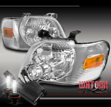 FOR 06-10 FORD EXPLORER/07+ SPORT TRAC REPLACEMENT CHROME HEADLIGHT W/50W 8K HID
