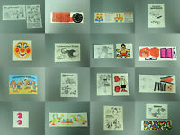 SPIELZEUG: Versch. Beipackzettel BPZ & Folienaufkleber AKF D 1986-92 z. Auswahl