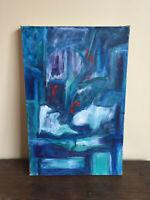tableau ancien huile sur toile inconnu (XXe-s) abstrait